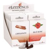 Elements incense cones-mixed box of 12 packs